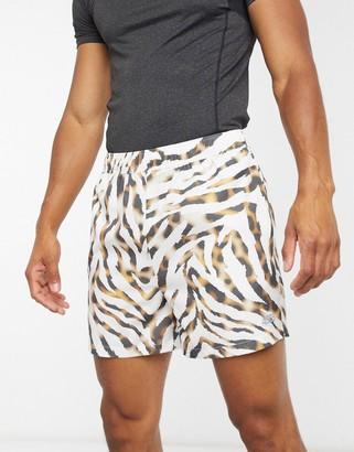 ASOS 4505 training shorts with animal print