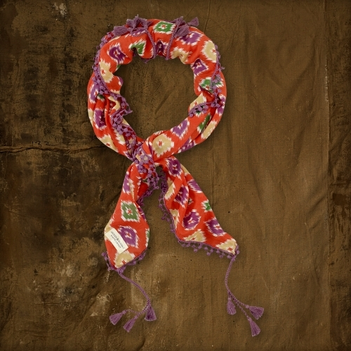 Denim & Supply Ralph Lauren Ikat Tassel Scarf