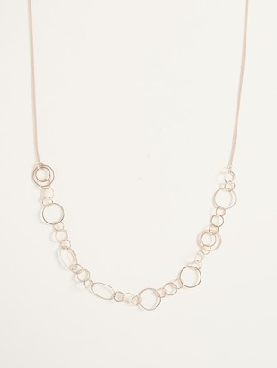 Old Navy Gold-Toned Interlocking-Ring Chain Necklace for Women