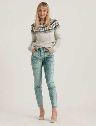 Lucky Brand Mid Rise Ava Skinny Velvet Jean