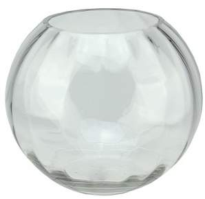 "clear Northlight 8.75"" Round Segmented Transparent Glass Bowl"