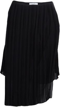 Christian Dior Black Pleated Skirt M