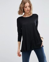 Asos Top In Swing Shape With Long Sleeve