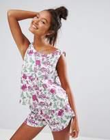 Asos Pretty Pastel Floral Tank & Short Pajama Set