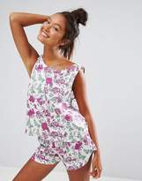 Asos Pretty Pastel Floral Vest & Short Pyjama Set