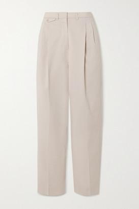Frankie Shop Pernille Woven Straight-leg Pants - Light gray