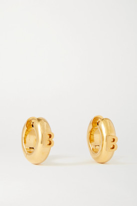 Balenciaga Gold-tone Hoop Earrings - one size