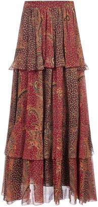 Etro Paisley Printed Tiered Maxi Skirt