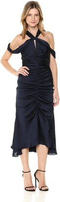 Keepsake Women's Dark Paradise Gathered Midi Dress