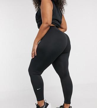 Nike Training Plus one tight leggings in black