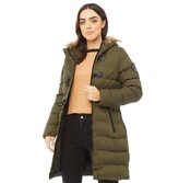 Thumbnail for your product : Brave Soul Womens Wizard Long Padded Jacket Khaki