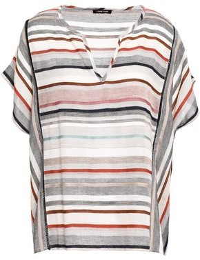 Love Sam Striped Gauze Top