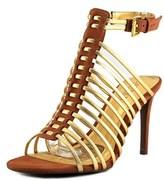 Lauren Ralph Lauren Skyla Women Open Toe Leather Gold Sandals.