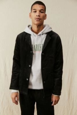 Cookman Black Corduroy Lab Jacket - Black M at Urban Outfitters