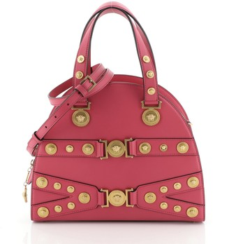 Versace Tribute Medallion Bowling Bag Leather Medium