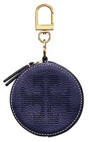 Tory Burch Perforated-Logo Circle Pouch Key Fob