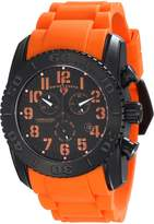 Swiss Legend Men's 11876-TIB-1-OAS Commander Analog Display Swiss Quartz Orange Watch