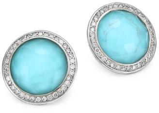 Ippolita Lollipop Small Sterling Silver, Doublet & Diamond Stud Earrings
