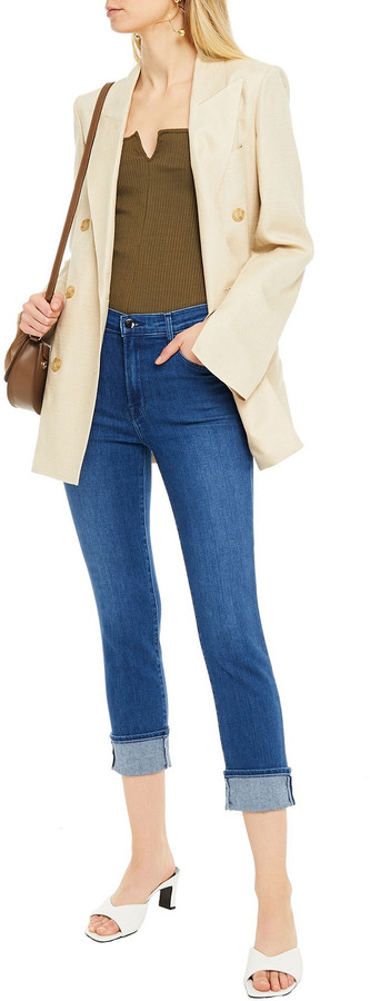 Thumbnail for your product : J Brand Cropped High-rise Slim-leg Jeans