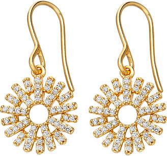 Astley Clarke Rising Sun 14ct yellow gold and diamond earrings, Women's, Yellow gold