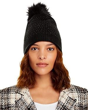Aqua Faux Fur Pom Pom Hat - 100% Exclusive