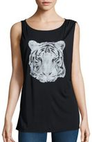 Haute Hippie Tiger Graphic Tank Top