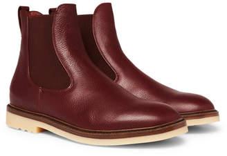 Loro Piana Winter Beatle Walk Full-Grain Leather Chelsea Boots