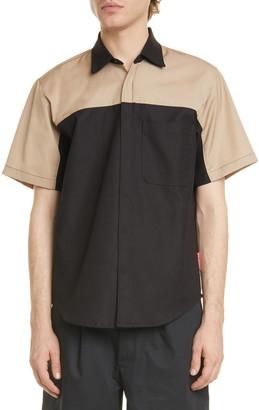 GR10K Klopman Tune Colorblock Short Sleeve Shirt