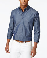 Club Room Men's Cotton Nautical Jacquard Shirt, Only at Macy's