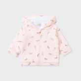 Paul Smith Baby Girls' Light Pink 'Safari Animals' Print Cotton Hoodie