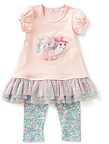 Bonnie Jean Bonnie Baby Baby Girls 12-24 Months Hedgehog-Appliqued Dress & Floral Leggings Set