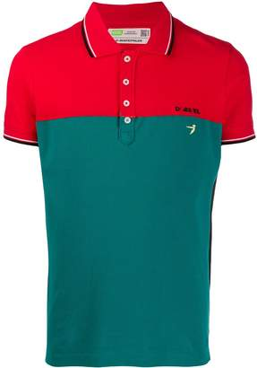 Diesel upcycled contrast trim polo shirt