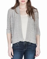 Lilla P Tape Yarn Cropped Cardigan, Dune