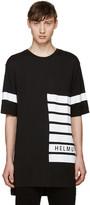 Helmut Lang Black Striped Logo T-Shirt