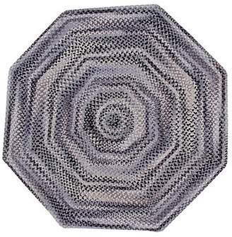 August Groveâ® Roswell Ombre Chenille Braided Cotton Black Area Rug August GroveA Rug Size: Octagon 6' x 6'