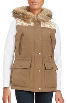 Pendleton Coyote Fur-Trimmed Puffer Vest