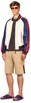 Tommy Hilfiger Edition Colorblock Leather Bomber Jacket