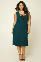 Forever 21 FOREVER 21+ Plus Size Deep-V Midi Dress