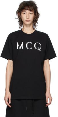McQ Black Swallow Logo T-Shirt