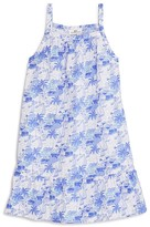 Vineyard Vines Girls' Bermuda Scene Print Shift Dress - Little Kid