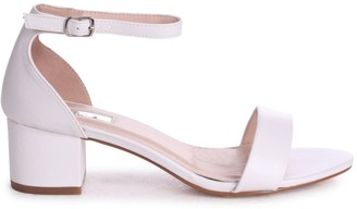 Barely There Linzi HOLLIE - White Nappa Block Heeled Sandal With Closed Back