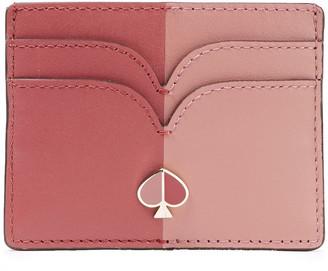 Kate Spade Nicola Two-tone Leather Cardholder