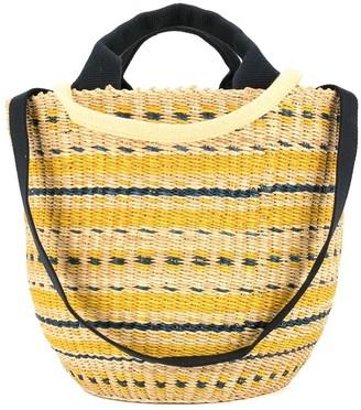 Muun motif round tote bag