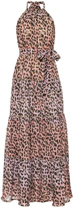 Juliet Dunn Leopard-print cotton maxi dress
