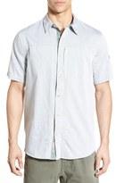 Gramicci Men's Regular Fit Short Sleeve Chambray Sport Shirt