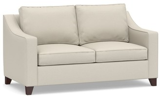 Pottery Barn Cameron Slope Arm Upholstered Sleeper Sofa with Air Topper