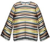Emilia Wickstead Brigitta striped organza top