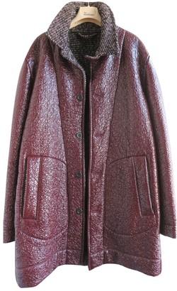 Bottega Veneta Burgundy Wool Coats