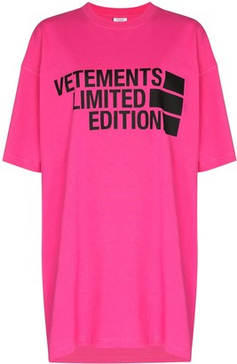 Vetements logo-print oversized T-shirt