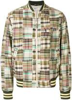 Universal Works checked bomber jacket